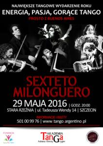 Koncert Sexteto Milonguero - 29 maja 2016 Szczecin